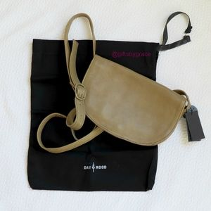 Day & Mood Leather Crossbody Bag Khaki Dustbag New